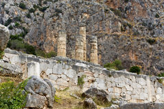 Temple of Apollo at Delphi archaeological s Stock Photography