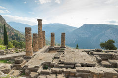 Temple of Apollo, Delphi Stock Photography
