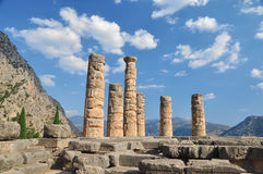 The temple of Apollo at Delphi, Greece Royalty Free Stock Images