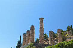 Temple of Apollo at Delphi in Greece Stock Photo
