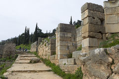 The Temple of Apollo in Delphi Stock Images