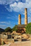 Temple of Apollo in Delphi Royalty Free Stock Photos