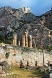 Temple of Apollo in Delphi Stock Photo