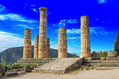 Temple of Apollo in Delphi Stock Images