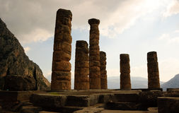 Temple of Apollo at Delphi, Greece Royalty Free Stock Photography