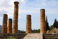 The Temple of Apollo in Delphi, Greece Stock Photos