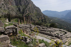 The temple of Apollo, Delphi, Greece Royalty Free Stock Images