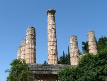 Temple of Apollo, Delphi Stock Photo