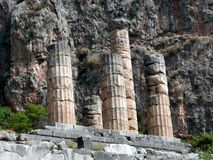 Temple of Apollo, Delphi Stock Images