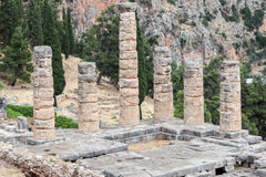 Temple of Apollo at Delphi Stock Photos
