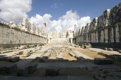 Temple of Apollo Didim. Scenic view of ruined Temple of Apollo, Didyma, Didim, Turkey Stock Photos
