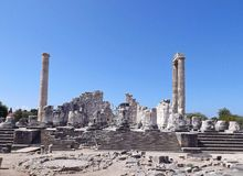Temple of Apollo Didim. Ancient Temple of Apollo Didim Turkey Stock Image
