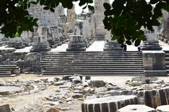 The Temple of Apollo in Didim royalty free stock image