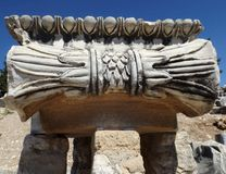 Temple of Apollo Didim Turkey. Fragment Temple of Apollo Didim Turkey Royalty Free Stock Photos