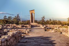 The temple of Apollo at Kourion. Limassol District, Cyprus Royalty Free Stock Image