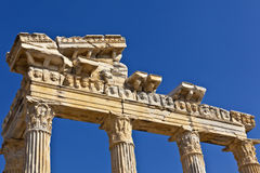 The Temple of Apollo ruin. Stock Image