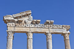 The Temple of Apollo ruin. Stock Photography