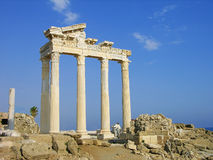 Temple of Apollo, Side, Turkey. Ruins of ancient Temple of Apollo in the town of Side, Turkey Royalty Free Stock Photos