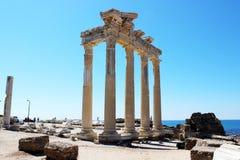 Temple of Apollo, Side, Turkey. Ancient Temple of Apollo ruins, Side, Antalya, Turkey Stock Photos