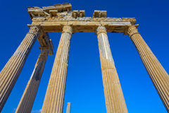 The temple of Apollo in Side Stock Photo