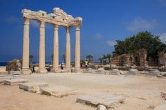 The Temple of Apollo in Side. Turkey. Stock Photo