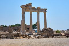 Temple of Apollo in Side, Turkey. royalty free stock photo