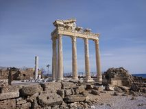 The Temple of Apollon. Temple in Side Royalty Free Stock Photo