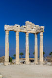 Temple of Apollon, Side, Turkey. Ruins of ancient temple of Apollon, Side, Turkey Royalty Free Stock Images