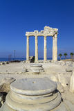 Temple of Apollon, Side, Turkey. Ruins of ancient temple of Apollon, Side, Turkey Royalty Free Stock Photos