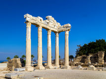 Temple of Apollon, Side, Turkey. Ruins of ancient temple of Apollon, Side, Turkey Stock Images