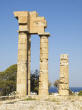 Temple of Apollonas at Rhodes Royalty Free Stock Photography