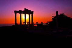 Temple of apolon ruins Royalty Free Stock Photo