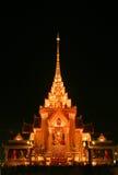 Temple après coucher du soleil photographie stock libre de droits