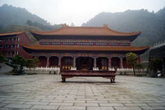 The temple architectural appearance, in China Royalty Free Stock Images