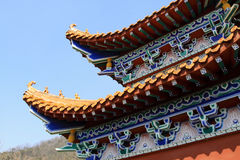 Temple architectural style eaves Stock Images