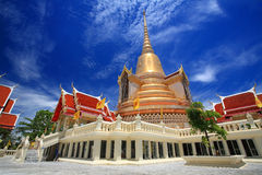 Temple architecture against blue sky at Wat Ketumwadee Royalty Free Stock Images