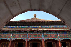 Temple architecture in Beihai Park, Beijing, China Royalty Free Stock Photo