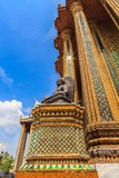 Temple Architecture Thailand Vertical. Buddha on the outside of the Emerald Buddha and the Grand Palace Thailand Royalty Free Stock Image