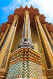 Temple Architecture Thailand Vertical. Buddha on the outside of the Emerald Buddha and the Grand Palace Thailand stock photo