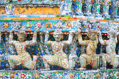Temple architecture with yaksha Royalty Free Stock Photos