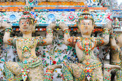Temple architecture with yaksha Royalty Free Stock Photography
