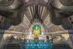 Temple argenté la nuit Photos libres de droits