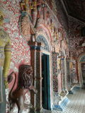 Temple Art. Anciant art within the Buddha house Stock Photo