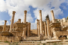 Temple of artemis. Propylaea, a monumental gate leading to the temple of artemis, jerash, jordan Stock Photography