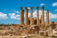 Temple of Artemis in the ancient Roman city of Gerasa Stock Photography