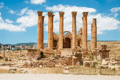 Temple of Artemis in the ancient Roman city Royalty Free Stock Photo
