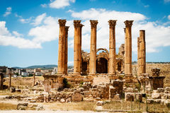The Temple of Artemis in the ancient Roman city of Gerasa Stock Photos