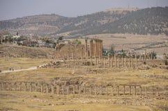 Temple of Artemis in the ancient Roman city of Gerasa, preset-da Stock Image