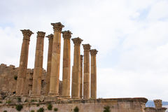 The Temple of Artemis, Jerash Royalty Free Stock Photos