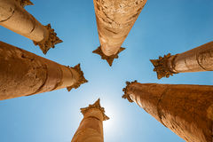 Temple of Artemis in Jerash, the Gerasa of Antiquity Stock Image